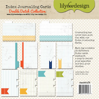 Lily Bee - Double Duch - Journaling Cards